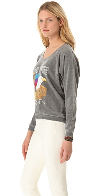 Chaser Born In the USA Raglan Sweatshirt