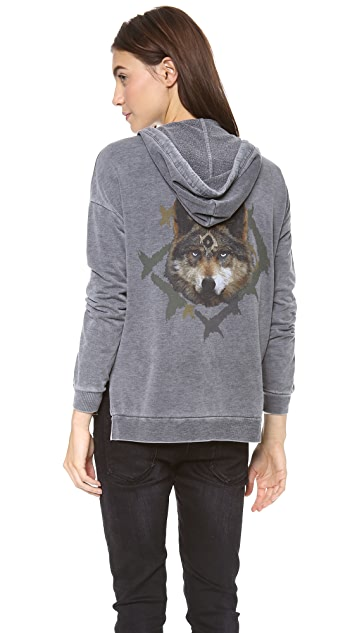 Chaser Branded Wolf Hoodie