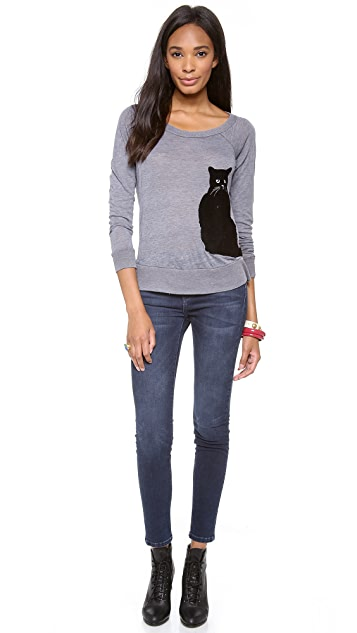 Chaser Flocked Cat Top