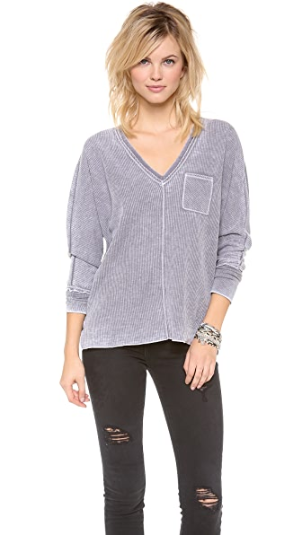 Chaser Long Sleeve V Neck Dolman Top