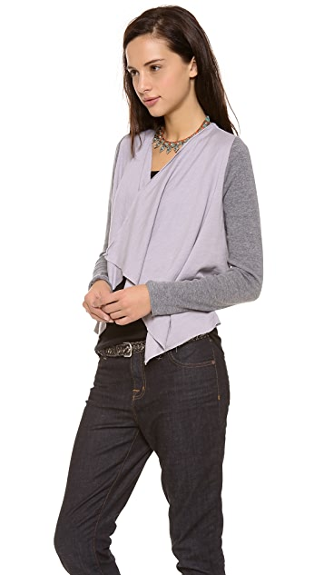 Chaser Drape Front Cardigan