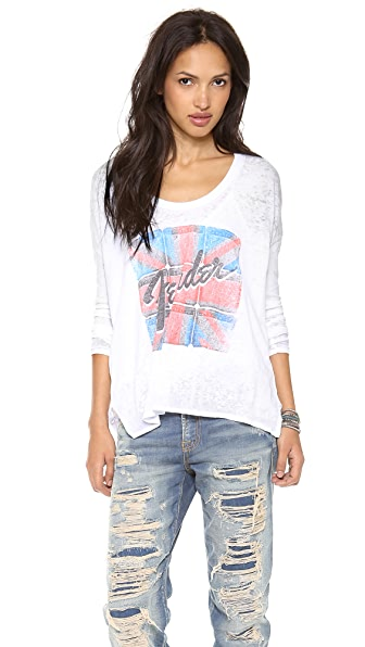 Chaser Fender Long Sleeve Top