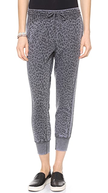 Chaser Leopard Print Sweatpants