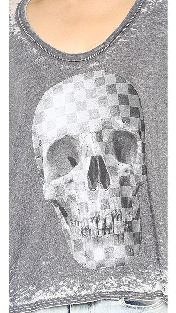 Chaser Checkered Skull Tee