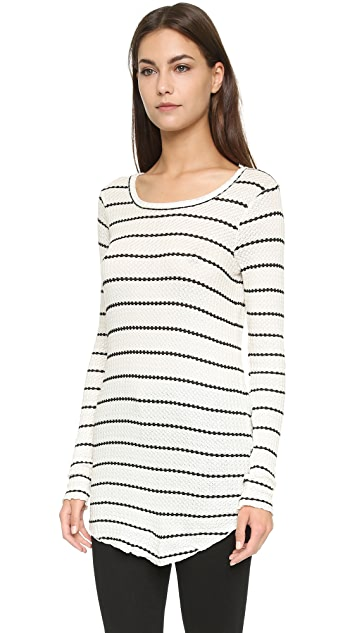 Chaser Long Sleeve Striped Thermal Tee