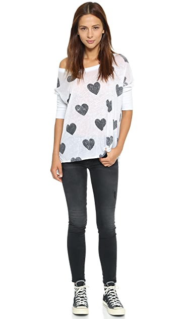 Chaser Chaser Heart Stamp Tee