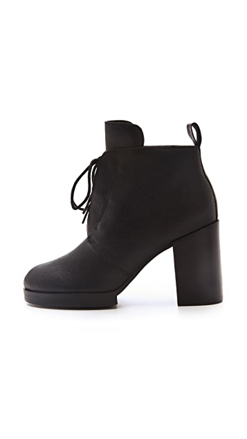 Cheap Monday Layer Lace Up Booties