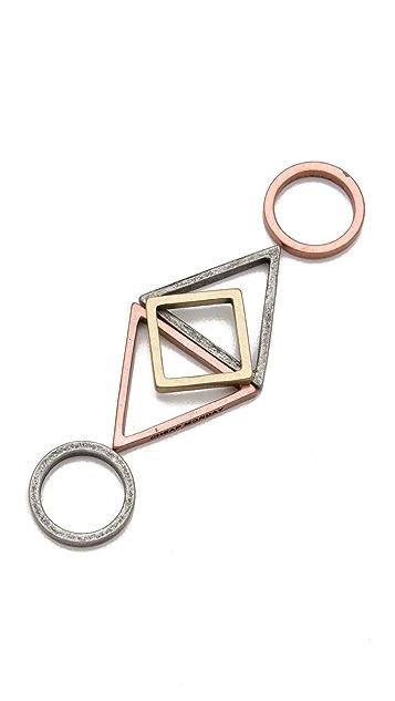 Cheap Monday Geometry Stacking Ring Set