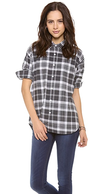 Cheap Monday Plaid Button Down