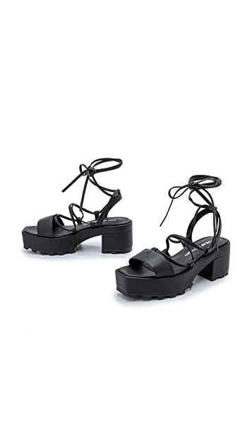 Cheap Monday Trapped Tied Platform Sandals