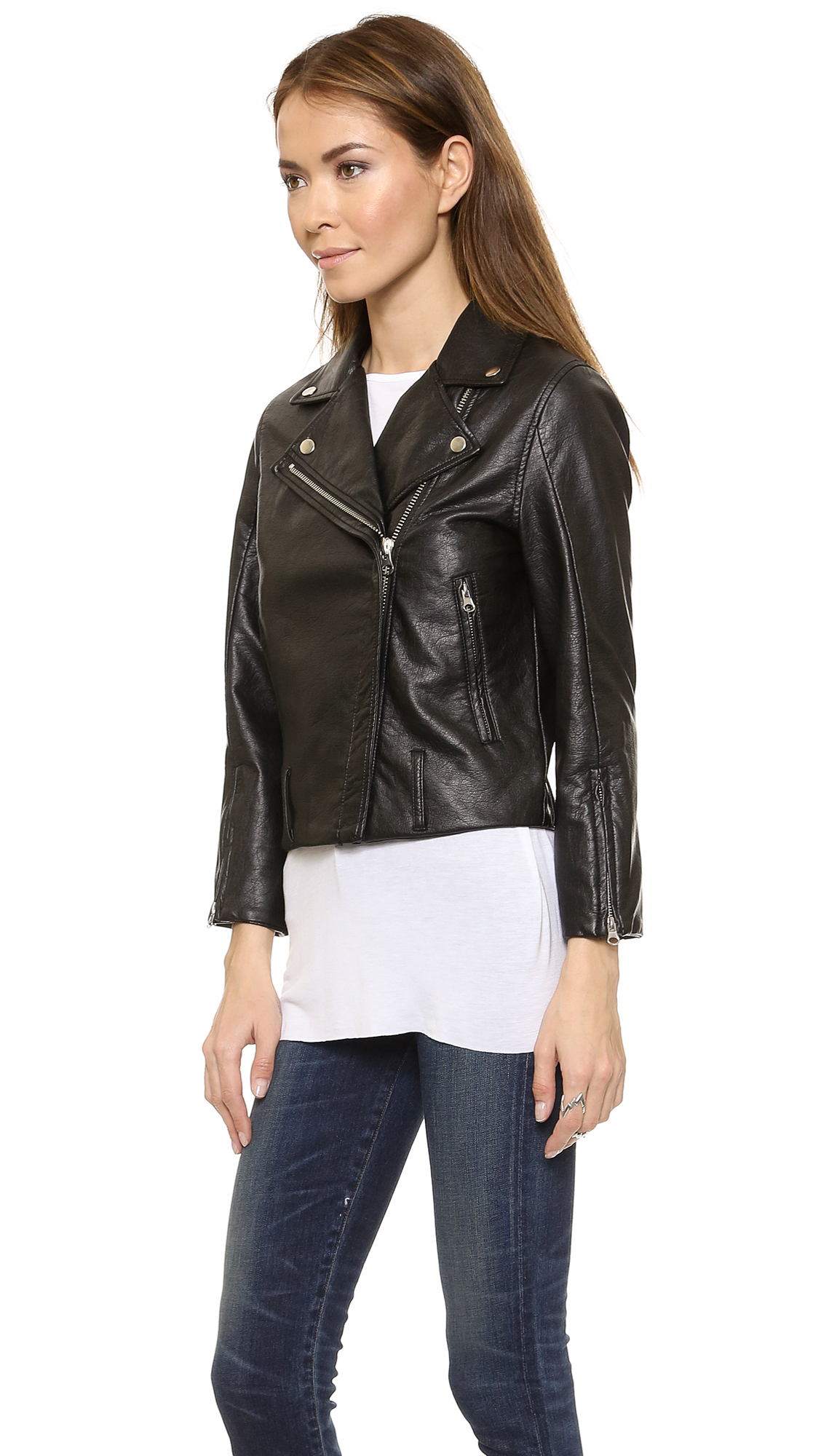 faux leather jacket cheap jacketin
