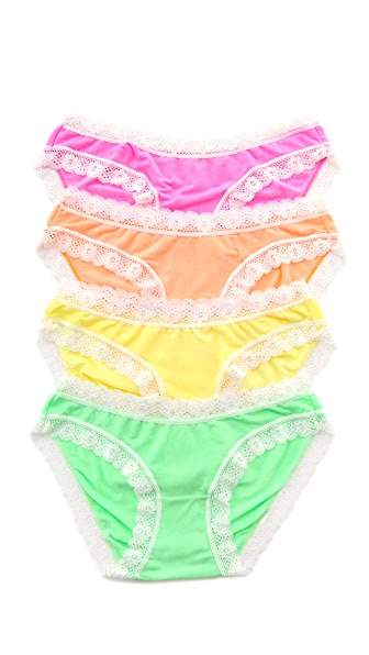 Cheek Frills Pastel Neon Panty Set