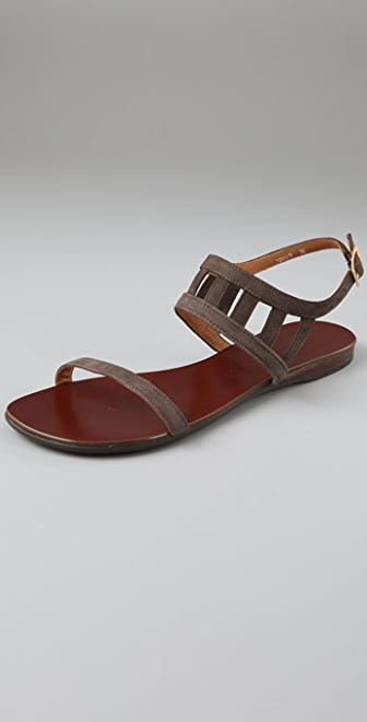 Chie Mihara Shoes Wagamama Suede Flat Sandals