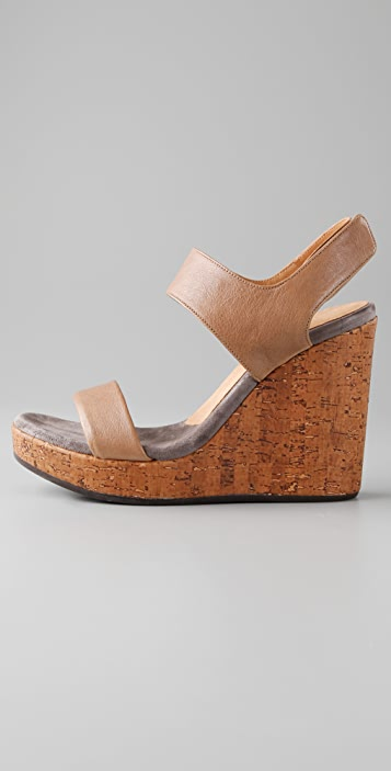 Chie Mihara Shoes Didac 2 Band Wedge Sandals