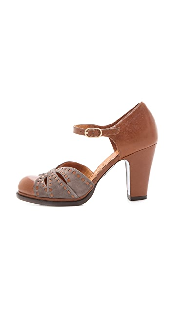 Chie Mihara Shoes Brogue d'Orsay Pumps