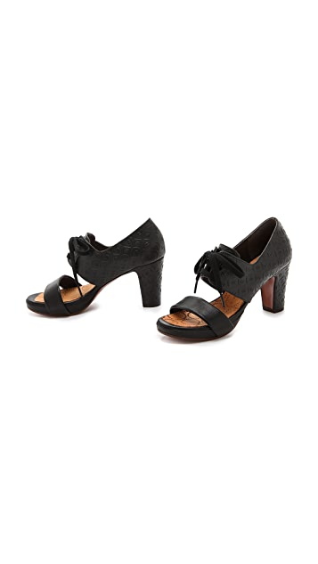 Chie Mihara Shoes Calanta Lace up Sandals