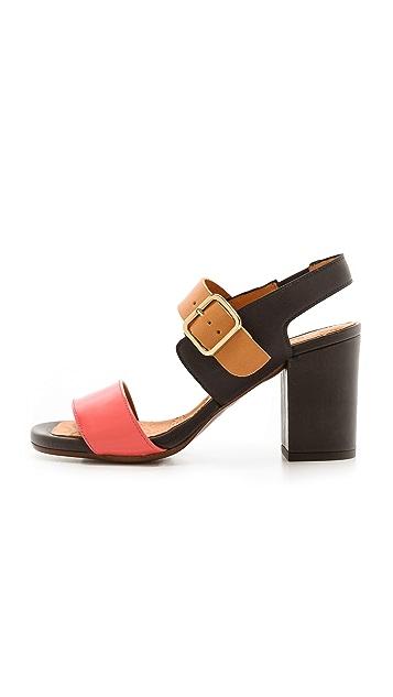 Chie Mihara Shoes Ruru Colorblock Sandals