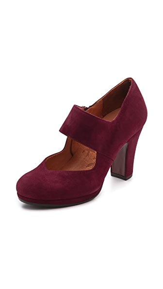 Chie Mihara Shoes Cantos Suede Mary Jane Pumps