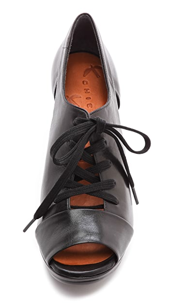 Chie Mihara Shoes Trancat Lace Up Booties