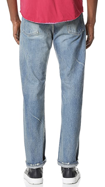 Chimala Selvedge Denim Baggy Straight Cut Jeans