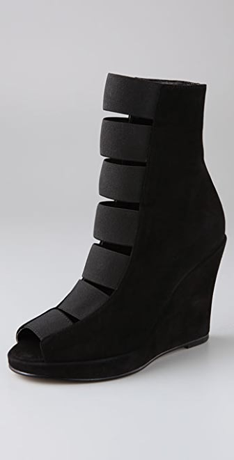 Chloe Sevigny for Opening Ceremony Elastic Wedge Suede Booties
