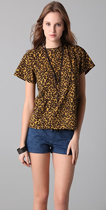 Chloe Sevigny for Opening Ceremony Leopard Print Tee