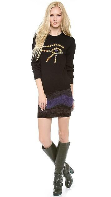 Chloe Sevigny for Opening Ceremony Eye Embellishment Sweater