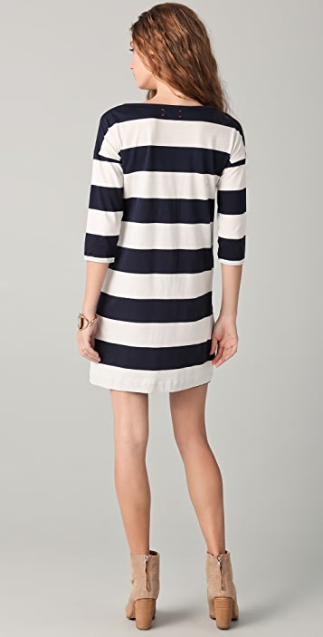 Chinti and Parker Wide Stripe Dress