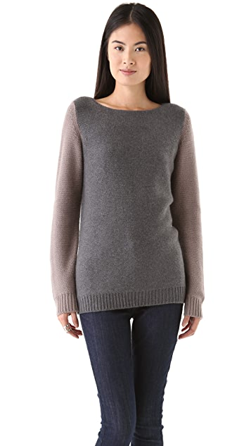 Chinti and Parker Reverse Knit Cashmere Sweater