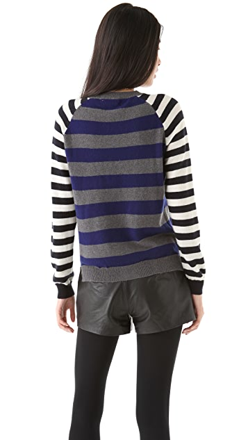 Chinti and Parker Mixed Stripe Cashmere Sweater