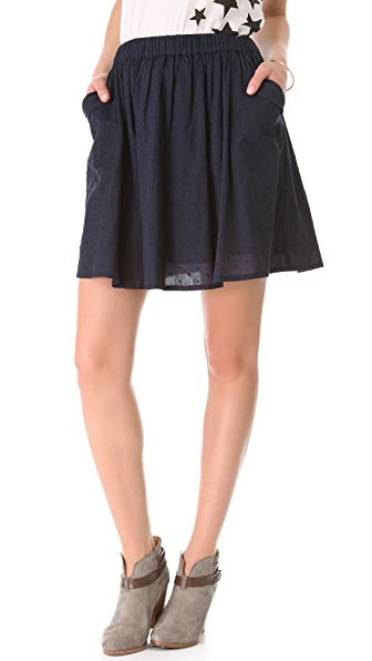 Chinti and Parker Cotton Dot Skirt