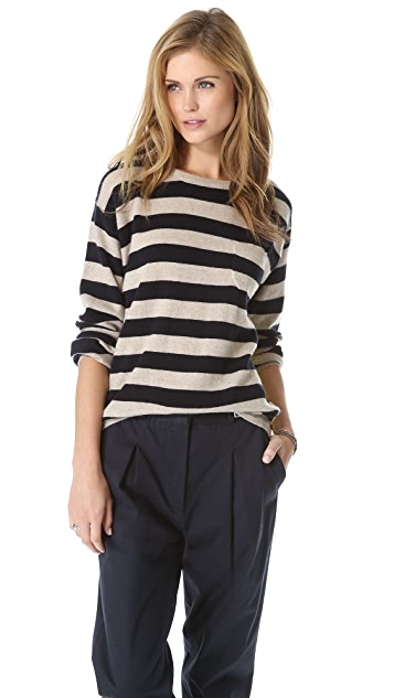 Chinti and Parker Sailor Stripe Cashmere Sweater