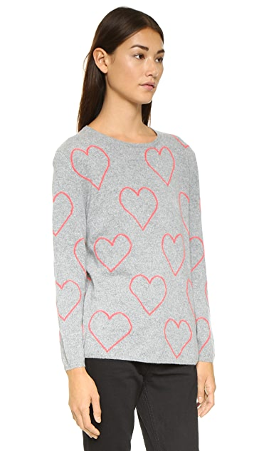 Chinti and Parker Allover Heart Sweater