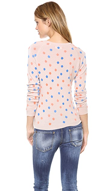 Chinti and Parker Cashmere Polka Dot Sweater