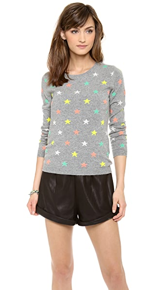 Chinti and Parker Cashmere Mini Star Grid Sweater