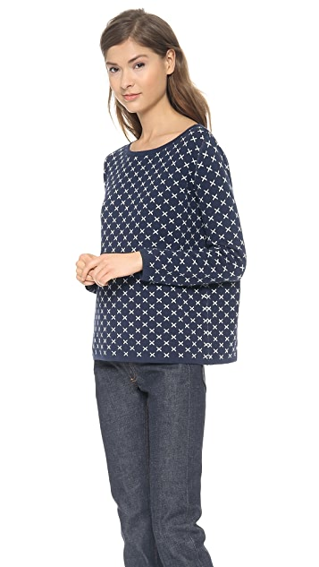 Chinti and Parker Small Cross Crew Neck Sweater