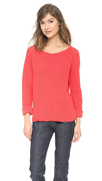 Chinti and Parker Cotton Textured Sweater