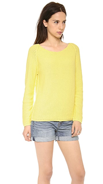 Chinti and Parker Textured Cotton Sweater