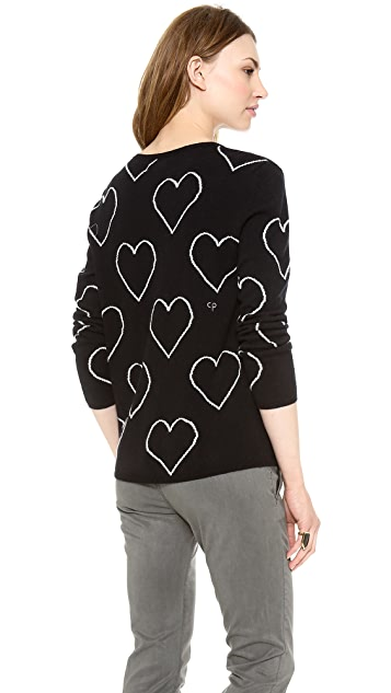 Chinti and Parker Allover Hearts Sweater