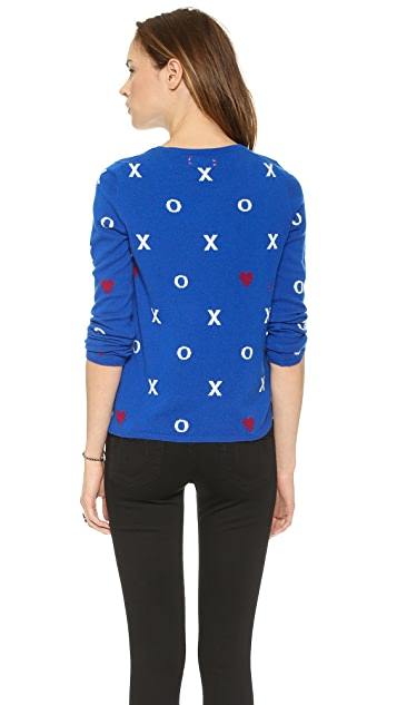 Chinti and Parker Hugs Kisses Hearts Cashmere Sweater