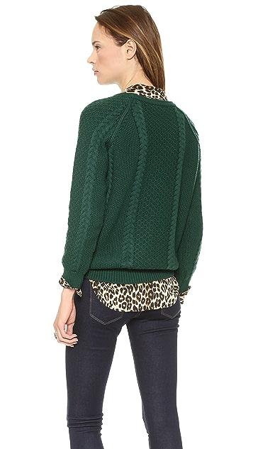 Chinti and Parker Boxy Aran Sweater