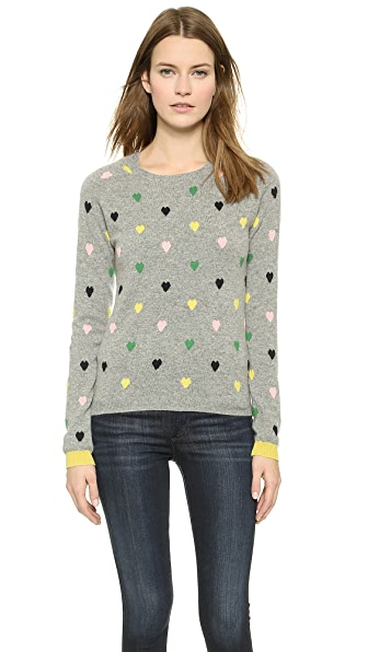 Chinti and Parker Color Heart Sweater