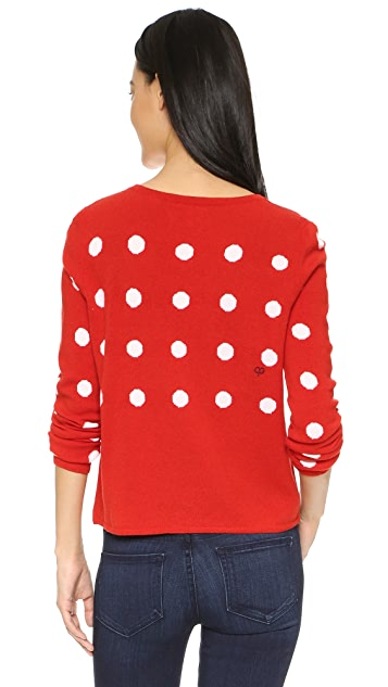 Chinti and Parker Intarsia Dropped Polka Sweater