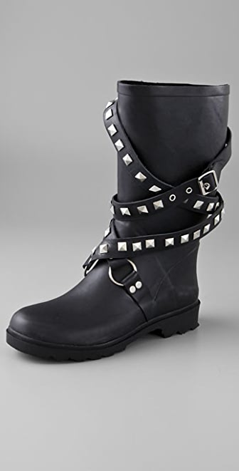 Chooka Moto Studded Rain Boots