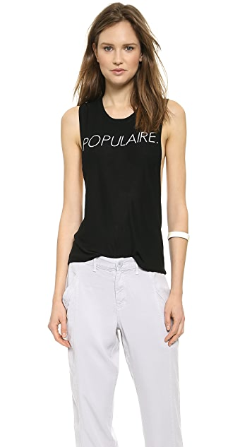 CHRLDR Populaire Open Back Muscle Tee