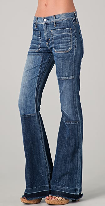 Citizens of Humanity Riviera Vintage Patchwork Flare Jeans