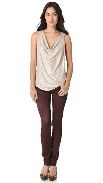 Citizens of Humanity Avedon Ritz Satin Skinny Pants