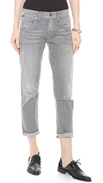 Citizens of Humanity Dylan Pinstripe Boyfriend Jeans