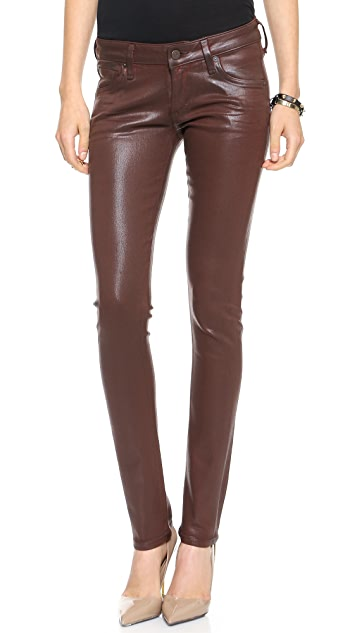 Citizens of Humanity Racer Coated Low Rise Skinny Jeans