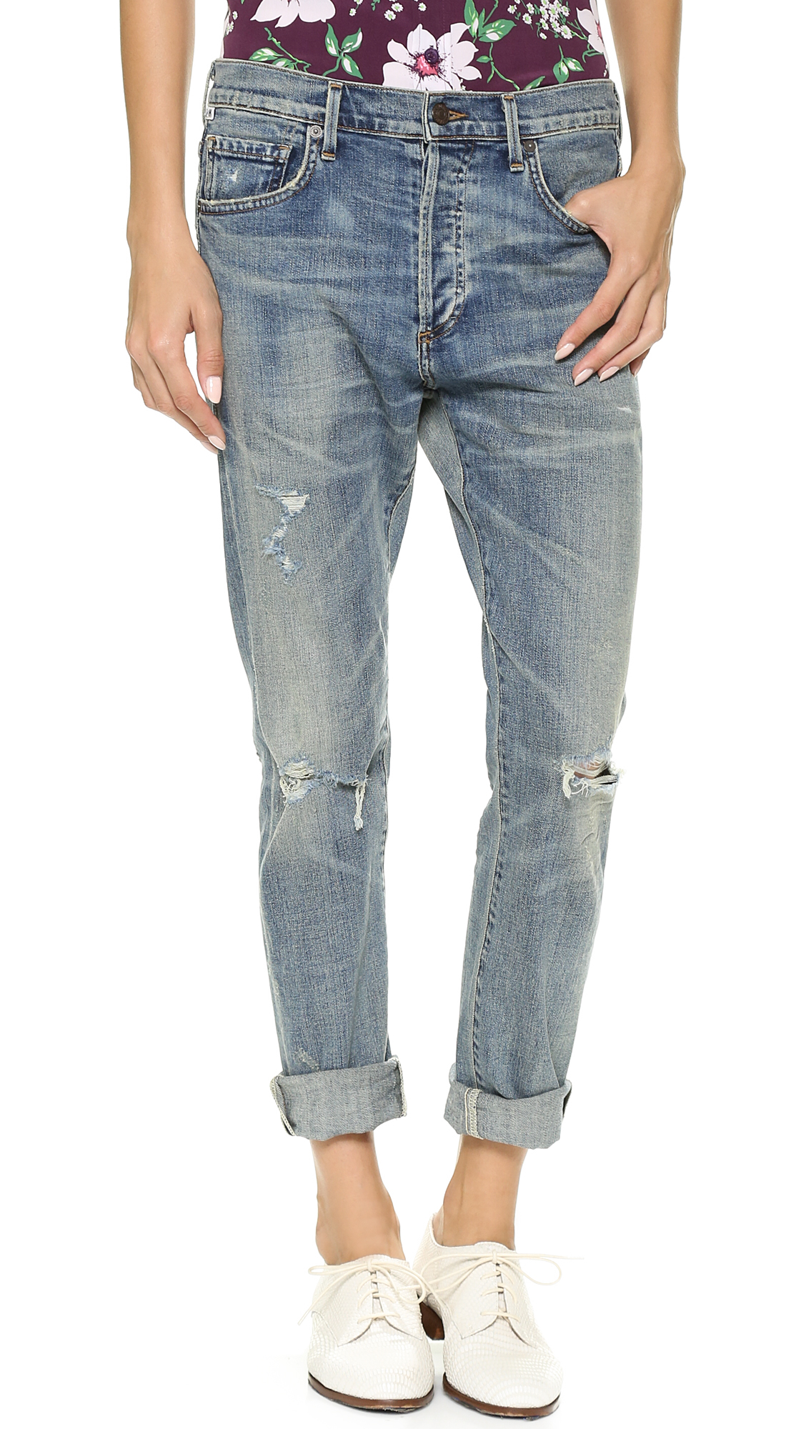 Citizens of Humanity Corey Straight Leg Ripped Jeans | SHOPBOP